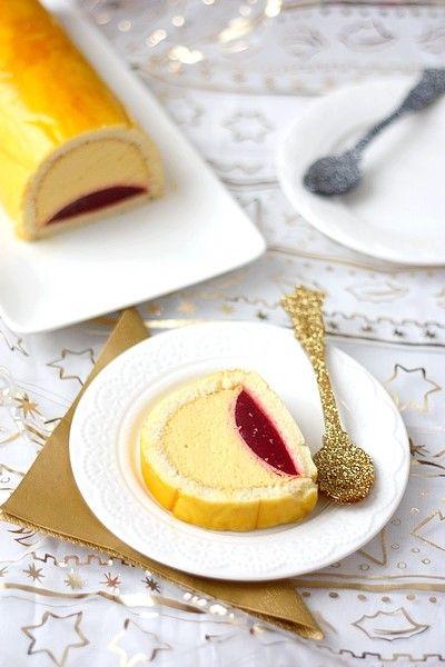 23} bûche mangue et framboise (gourmandiseries - blog de recettes