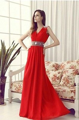 New Chiffon Bridesmaid Evening Formal Party Ball Gown Prom Dress Support custom