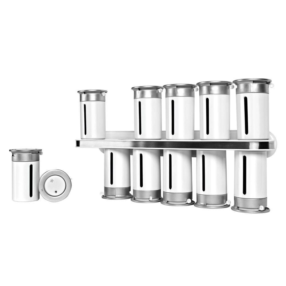 Zevro By Honey Can Do 12 Canister Zero Gravity Wall-Mount Magnetic Spice Rack