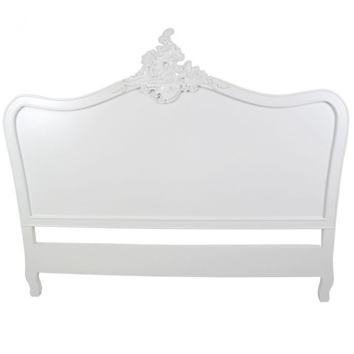 french white 5ft king size headboard garden furniture bedroom furniture boutique furniture from optimal - Garden Furniture King