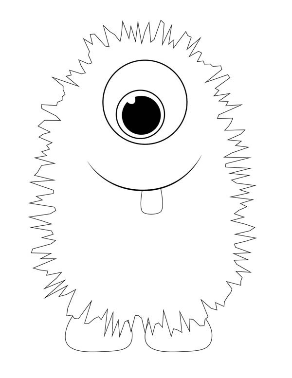Lovely Fluffy Monster Coloring Page Color Luna Monster Coloring Pages Monster Crafts Monster Birthday Parties