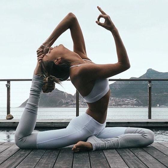 DaysCloth White-Grey Patchwork High Waisted Yoga Casual Sports Legging #fitnessrelatedjobs