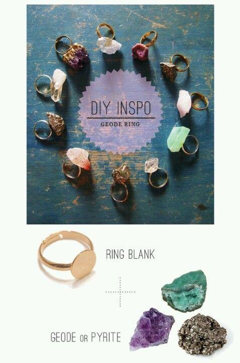 Diy Rings So Easy And Fun Great Little Gifts Diy Geode Rings