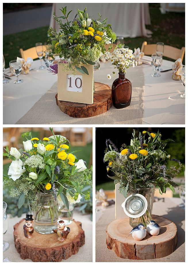 Backyard wedding ideas wedding centerpiece ideas for Inexpensive wedding centrepieces