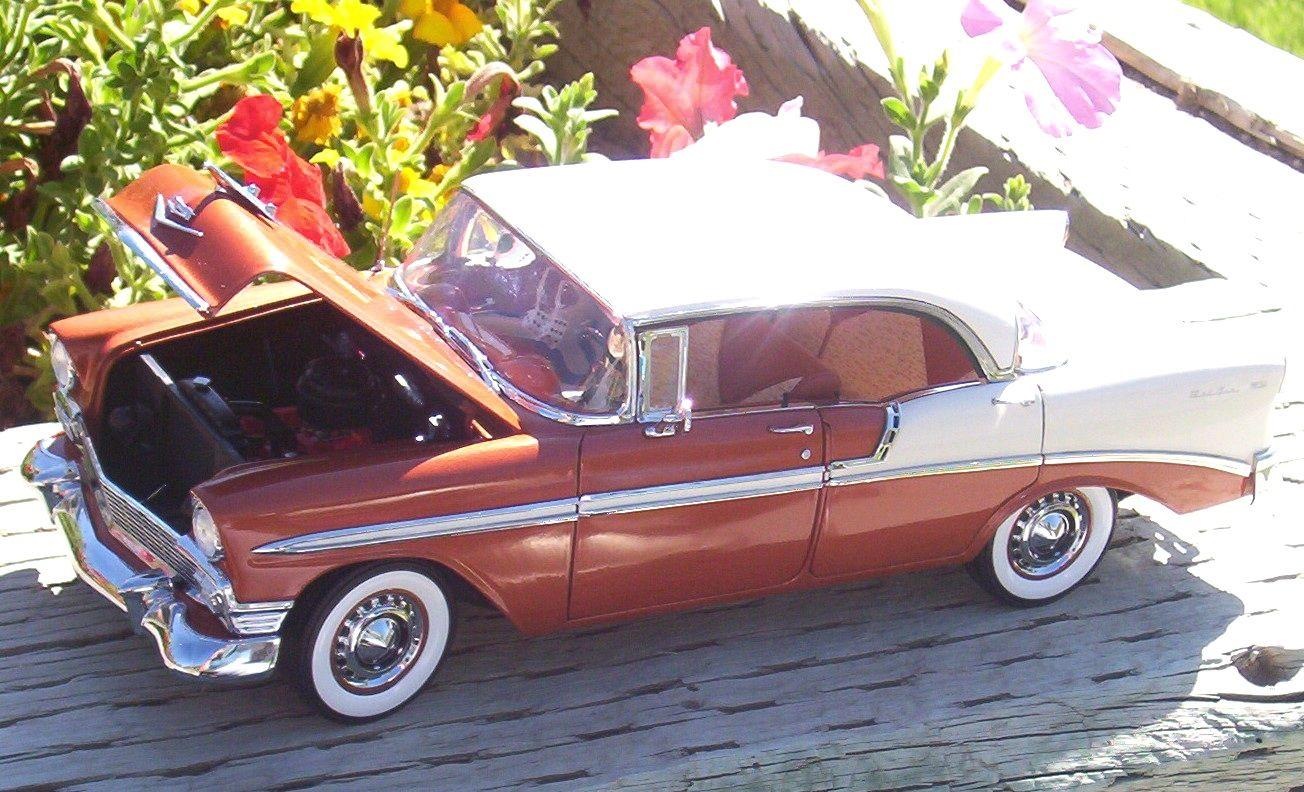 1956 Chevrolet Bel Air 4 door hardtop 1 Diecast model