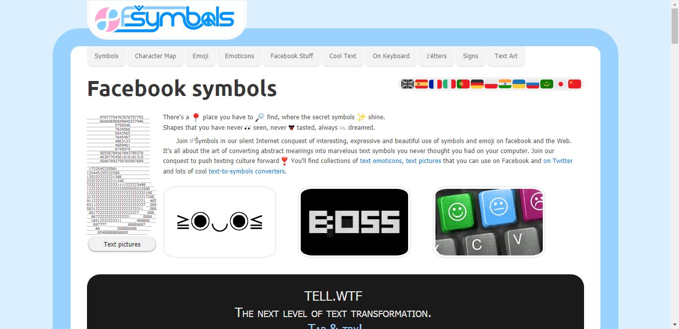 Facebook Symbols Cool Text Signs Emoticons 03 Software