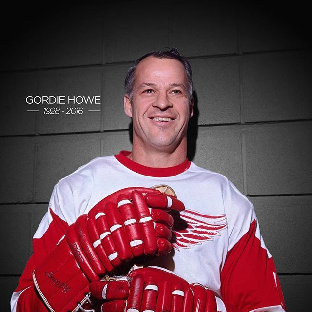 Today the hockey world lost a role model and legend. Thank you for your contribution to the game, Mr. Hockey.