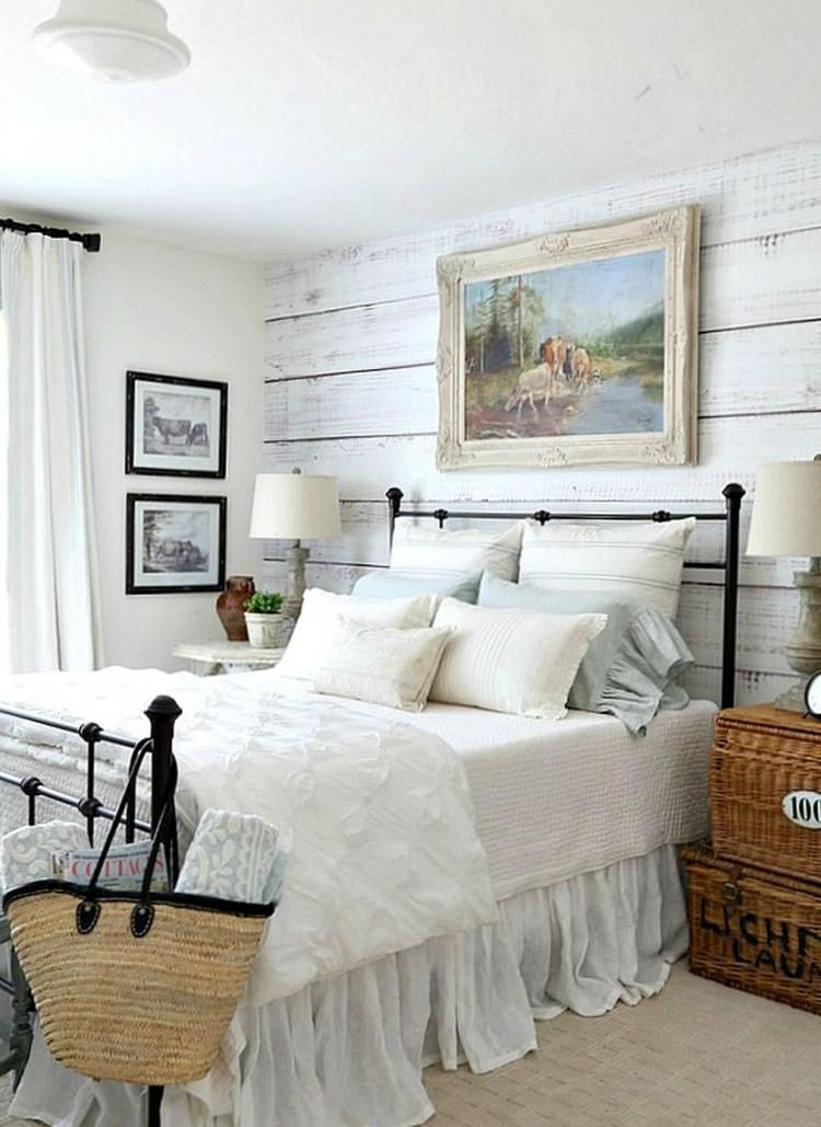 Farmhouse Style Master Bedroom Decorating Ideas Chambre A