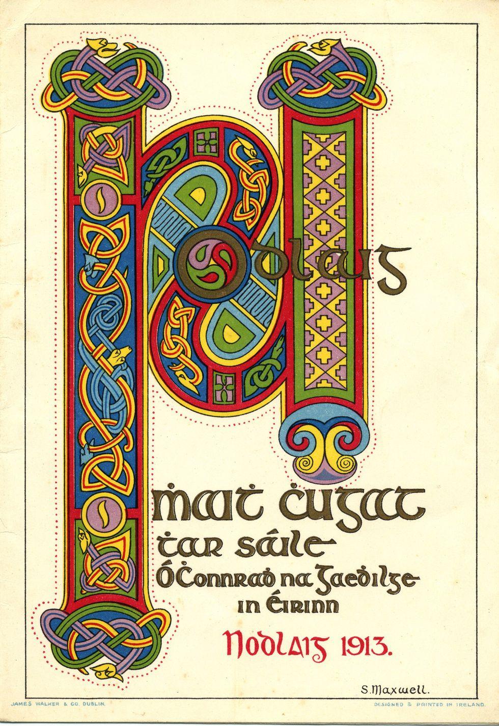 Conradh na Gaeilge Christmas card, 1913. | Ireland | Pinterest ...