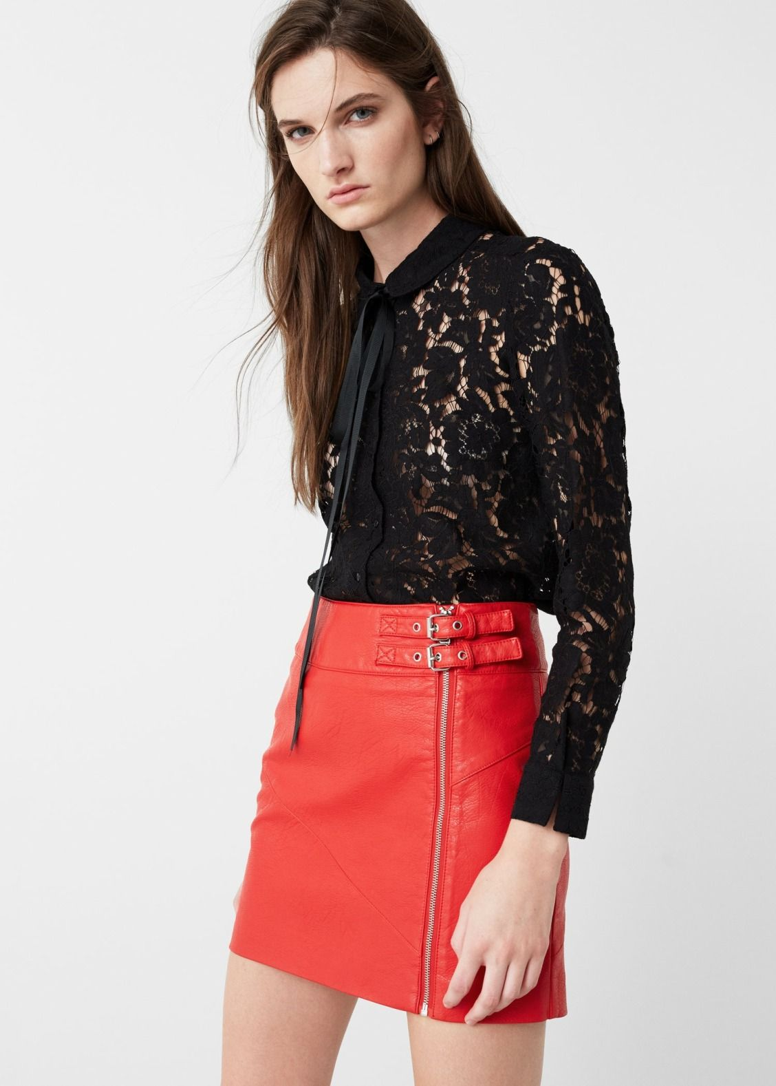 This sheer lace top screams sophistication and ediness.