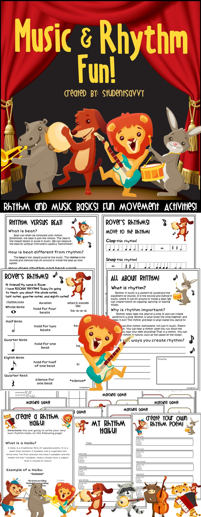 Rhythm Activities | Music Teacher ♫ ♪ ♫ ♪ | Kindergarten ...