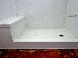 Shower Bench Squared Curb Custom Shower Pan Cultured Marble Shower Shower Pan