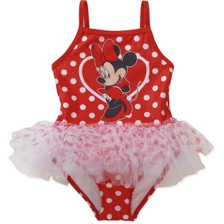 a7f8c3830c Minnie Mouse Baby Toddler Girl Character One Piece Swimsuit | Maui ...