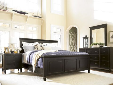 Universal Furniture Summer Hill Bedroom Set in Midnight Master