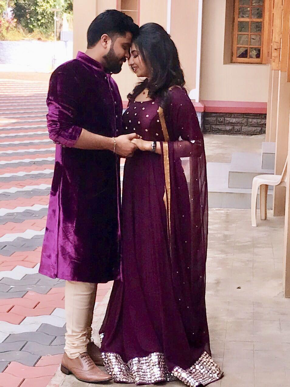 Bride Engagement Design Purple Theme Royalwedding