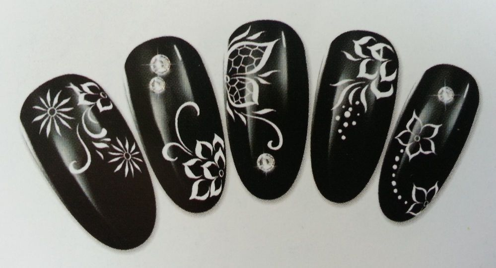 Cool and Gorgeous Flower Design Nail Art Decals Sticker For Natural/False Nails