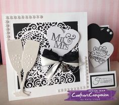 Side stepper card using Crafter's Companion Die'sire 5x5 create a card die floral lace heart. Designed by Kelly Lloyd #crafterscompanion