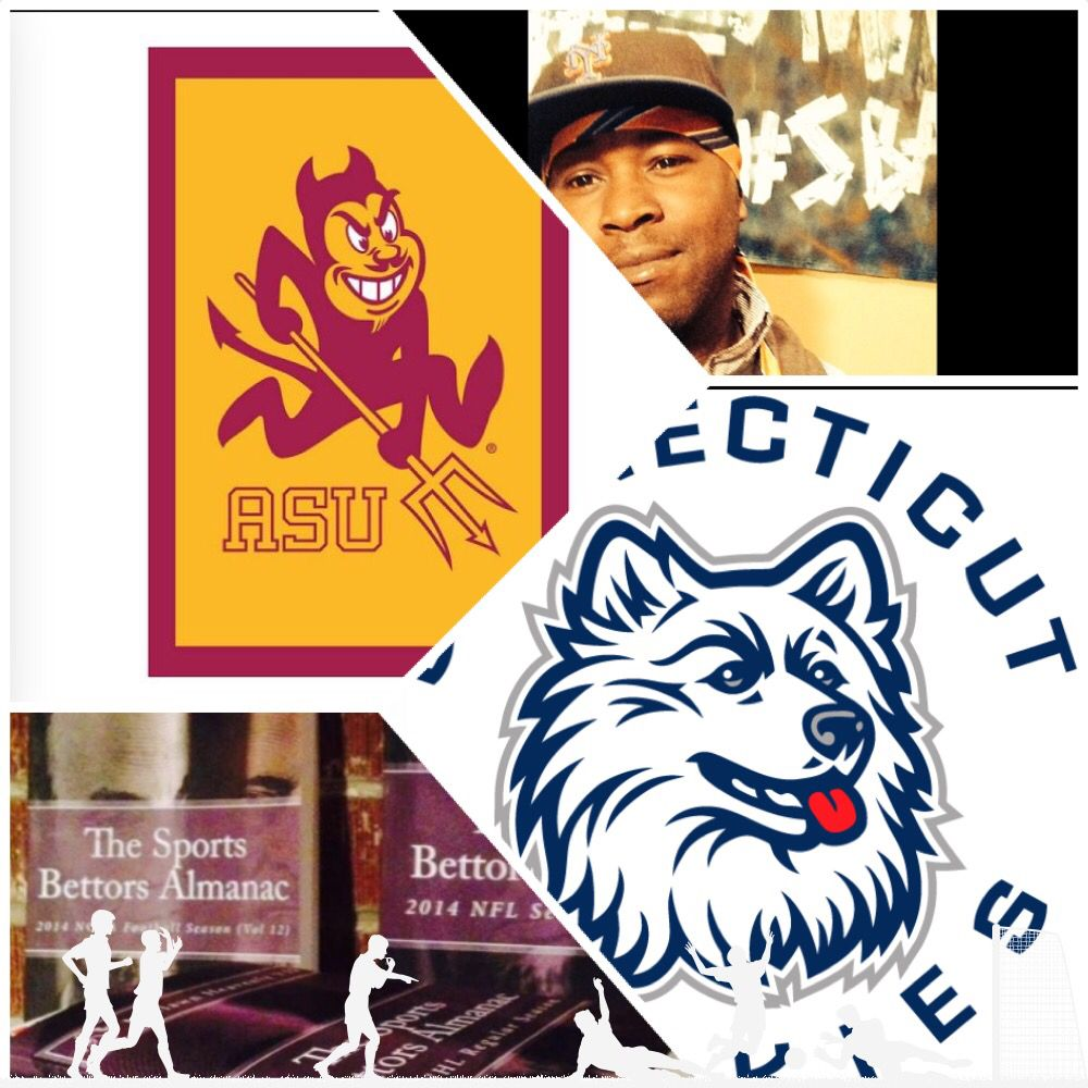 "3/18/15 NCAAB #MarchMadness : #ArizonaSt #SunDevils vs #Connecticut #Huskies (Take: Sun Devils +3,Over 137) (THIS IS NOT A SPECIAL PICK ) ""The Sports Bettors Almanac"" SPORTS BETTING ADVICE  On  95% of regular season games ATS including Over/Under   1.) ""The Sports Bettors Almanac"" available at www.Amazon.com  2.) Check for updates   My Sports Betting System Is an Analytical Based Formula   ""The Ratio of Luck""  R-P+H ±Y(2)÷PF(1.618)×U(3.14) = Ratio Of Luck  Marlawn Heavenly VII (…"