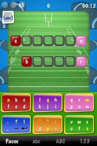 How much do you know about the NFL teams and players?  With tikitic American Football, you can now play with the teams and players of the National Football League.  TikiTic is using our exclusive Tiki6Keys™ mobile keyboard technology providing the user with an efficient gaming interface.  Guess and kick the words that drop down the screen by typing the letters on the keyboard before they hit the ground. Try new moves with our keyboard: slide, touch, type with several fingers...