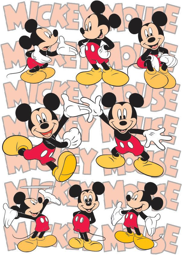 Mickey Mouse Disney vector cartoon layered cutting file in Svg, Eps, Ai and jpeg format for Cricut and Silhouette by bullgraphics on Etsy