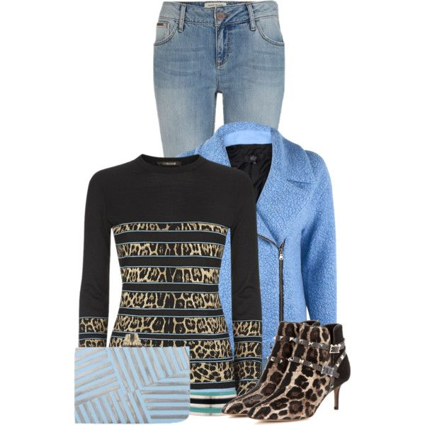Leopard and Soft Blues by callmeadie on Polyvore featuring polyvore, fashion, style, Roberto Cavalli, TIBI, River Island, Valentino, Kelly Wearstler and Marni