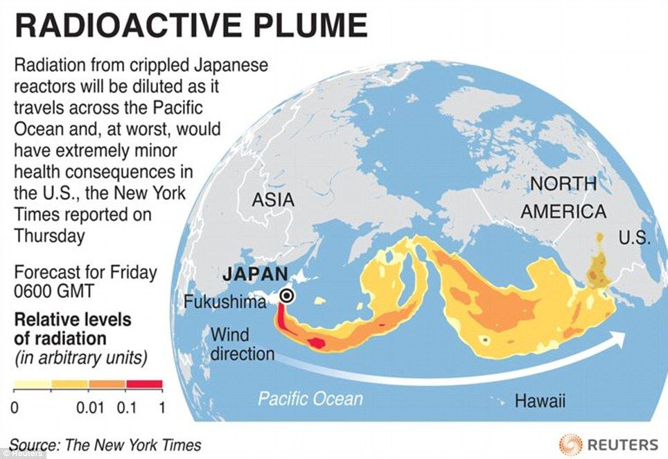 UN Predicts Nuclear Plume Could Hit US By FRIDAY As Obama - Fukushima radiation 2016 us map