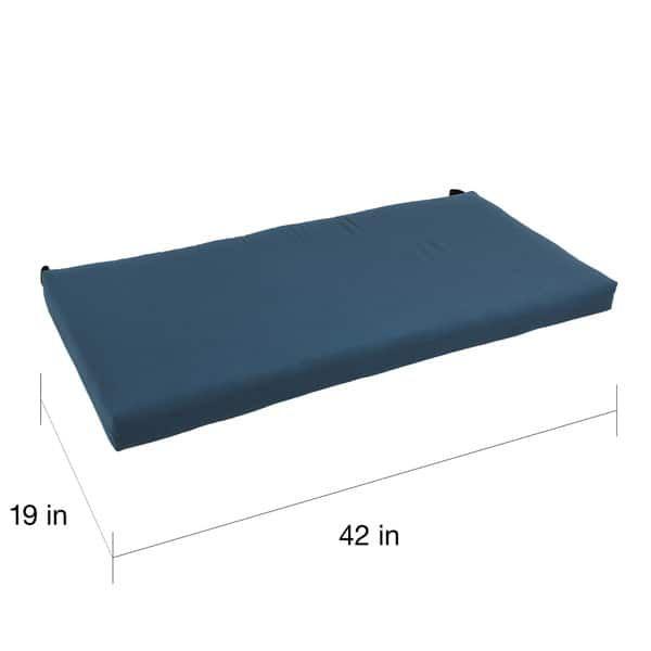 Blazing Needles 42 Inch Solid Twill Indoor Bench Cushion 19