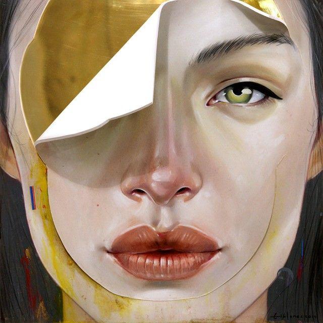 Optical Illusion in Women Painted Portraits – Fubiz™
