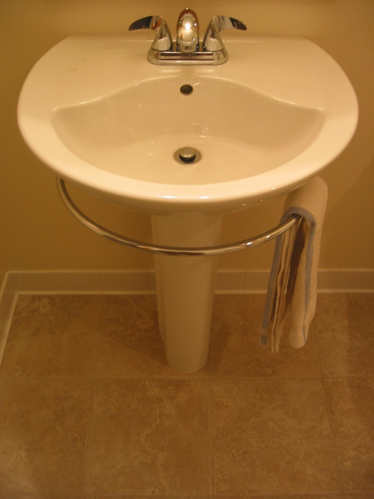 Pedestal Sink Towel Bar