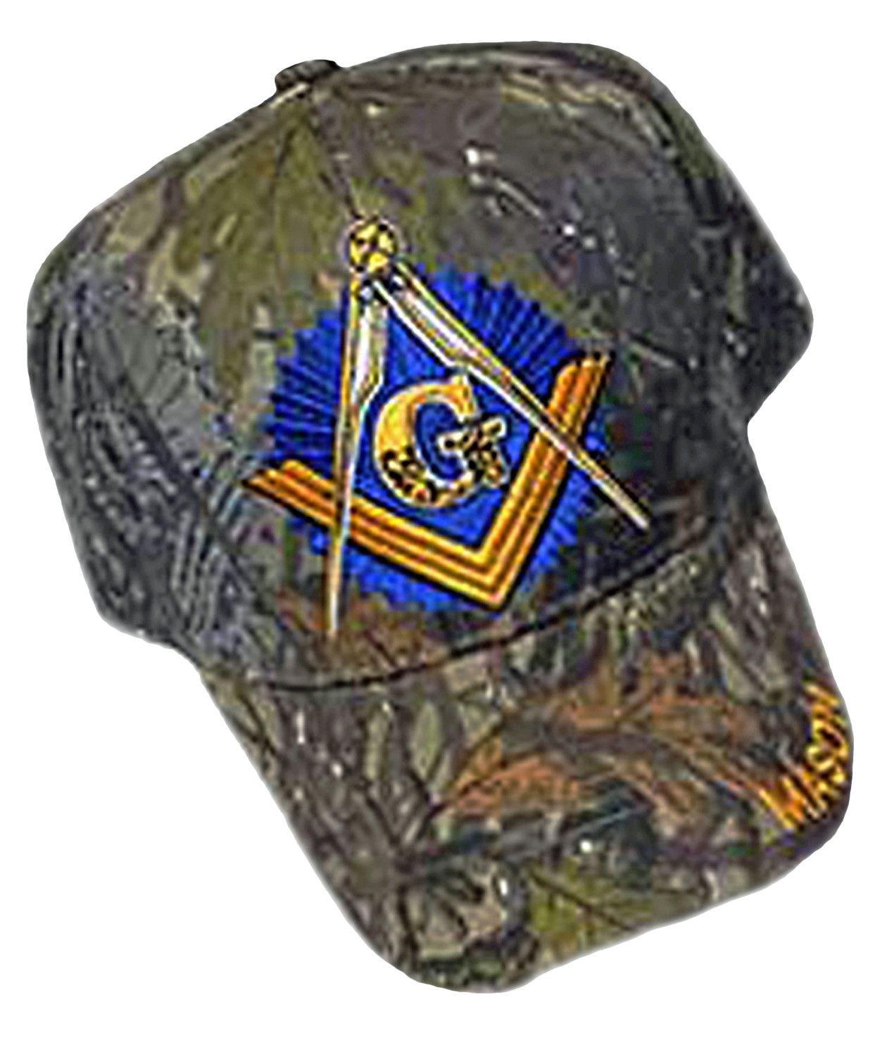 fd7e5c21f6 Mason Hat Camouflage Baseball Cap with Master Masonic Logo Freemasons  Shriners Prince Hall Camo Lodge Headwear
