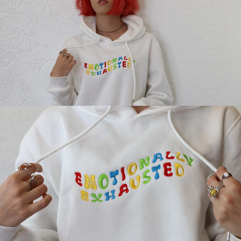 Aesthetic embroidery sweatshirt