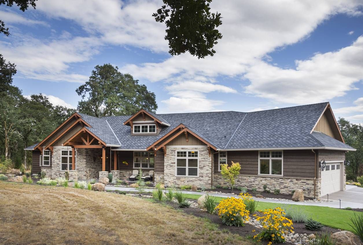 Mascord Plan 1250 The Westfall Ranch Style House Plans Craftsman House Ranch Style Homes