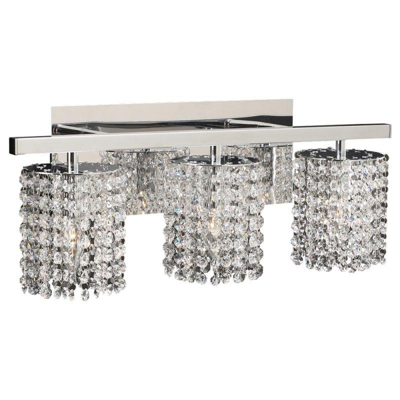 plc lighting plc 72194 three light crystal bathroom vanity light