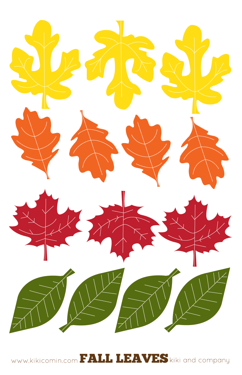 Fall Leaves Printables From Kiki Comin Blog We Made Dangling Name Fall Leaf Garland Fall Leaf Template Fall Leaves Coloring Pages