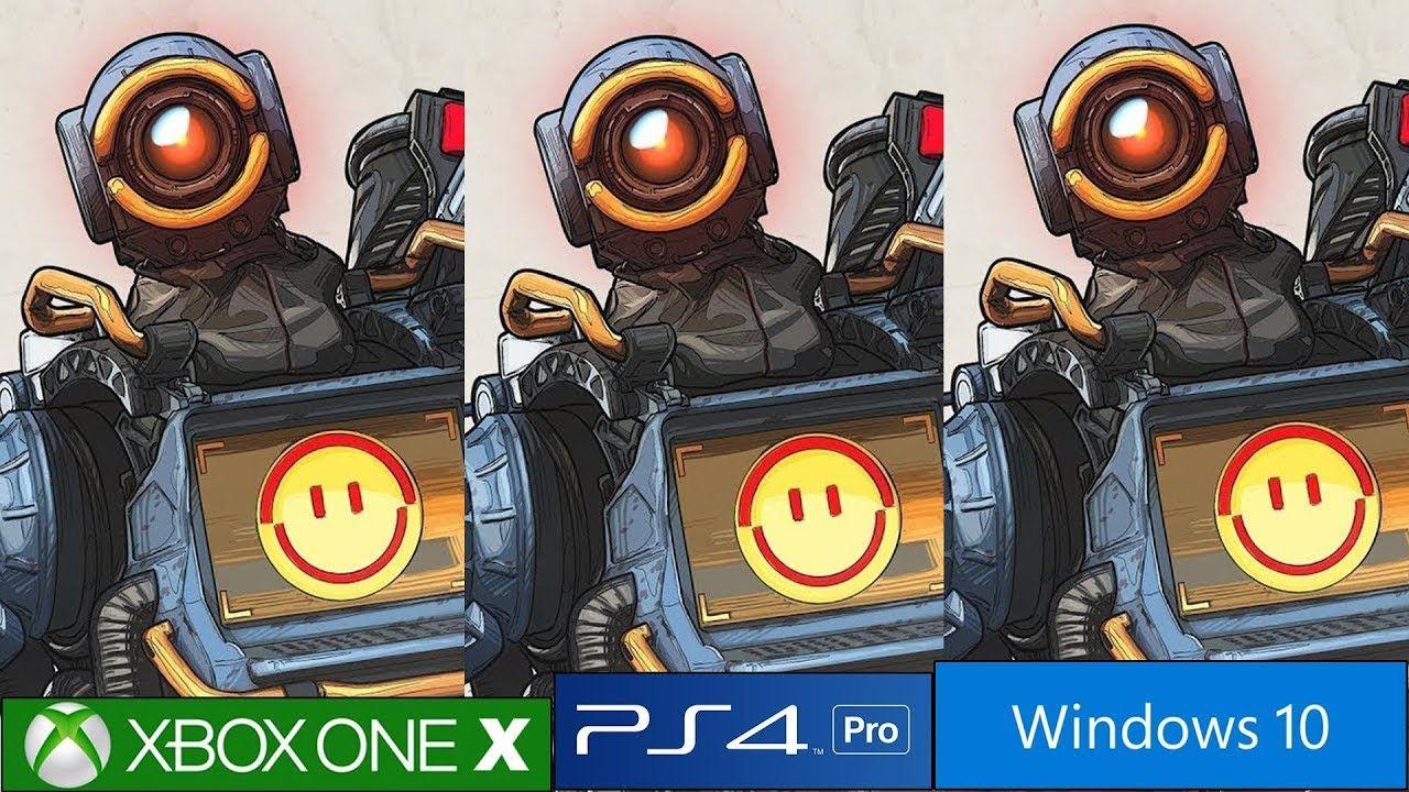 Apex Legends Ps4 Pro Vs Xbox One X Vs Pc Graphics Comparison Which Ver Xbox One Ps4 Pro Ps4