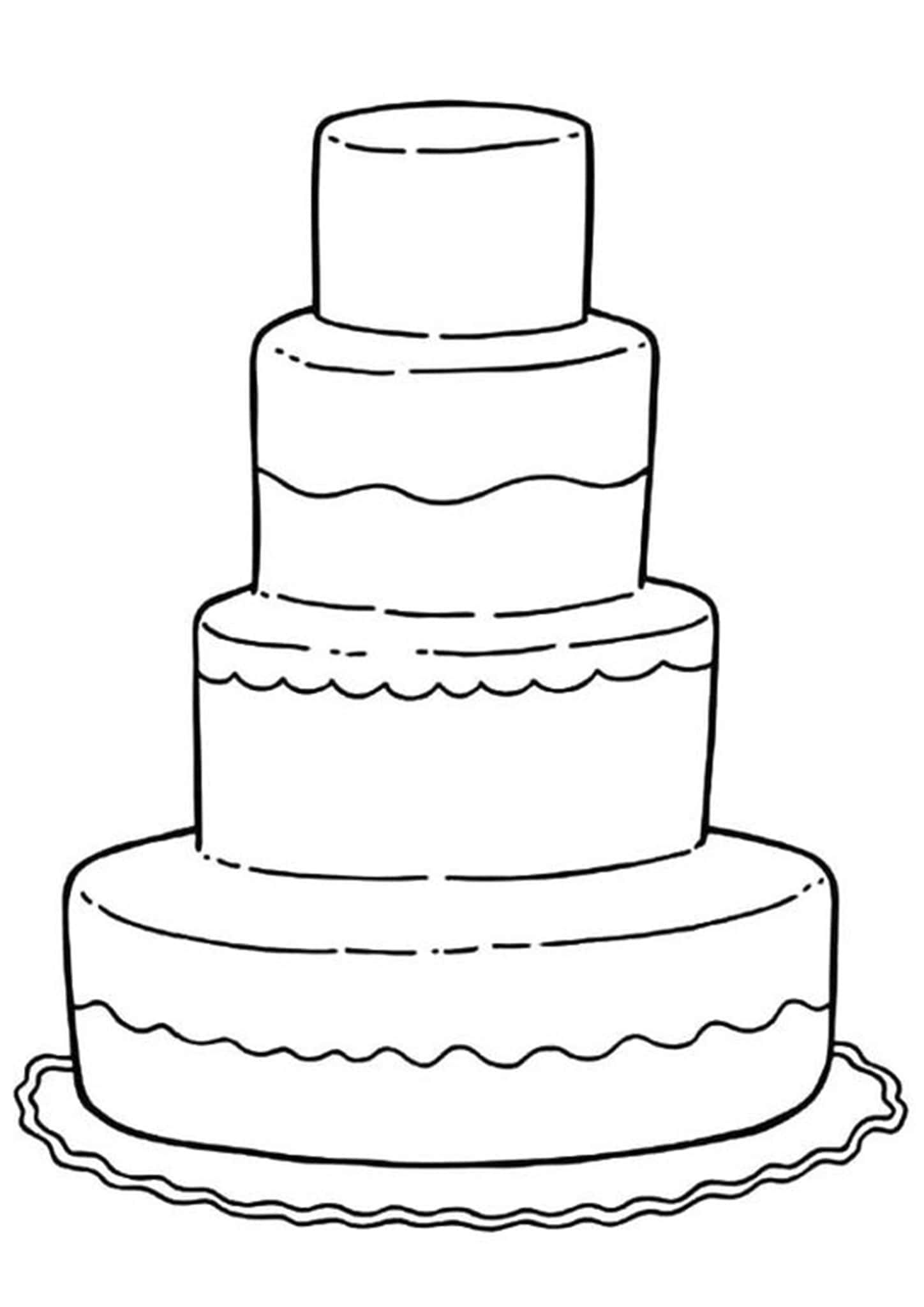 Free Easy To Print Cake Coloring Pages Wedding Coloring Pages Cupcake Coloring Pages Wedding With Kids