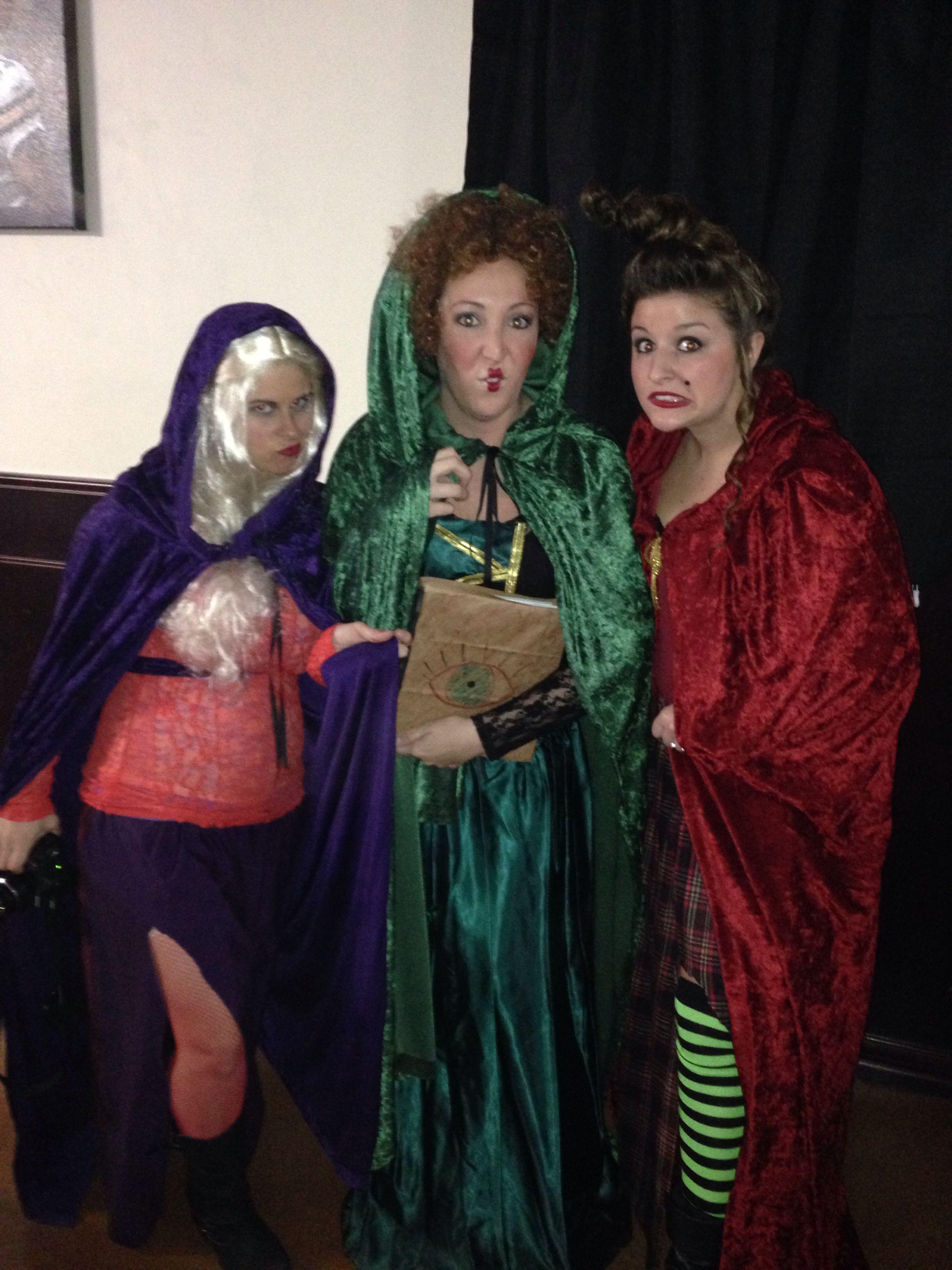 diy hocus pocus sanderson sisters, halloween costumes 2013