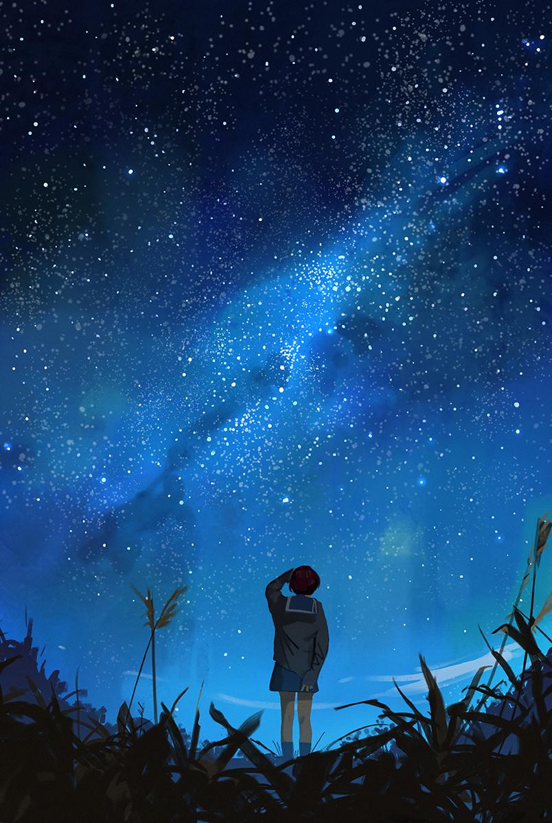 Pin by K♥ on Anime Background Sky anime, Anime scenery