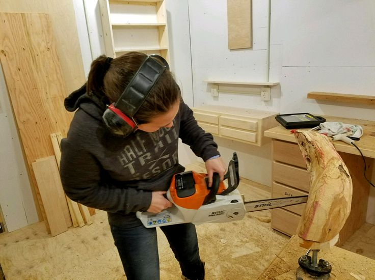 Dave ahrendts wood carving shop half