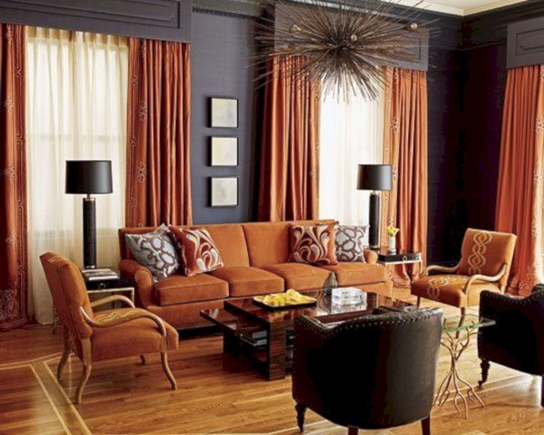 24 Amazing Rust And Grey Living Room Color Schemes | Burnt ...