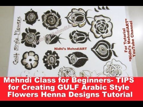 30) Mehndi Class for Beginners- TIPS for Creating GULF