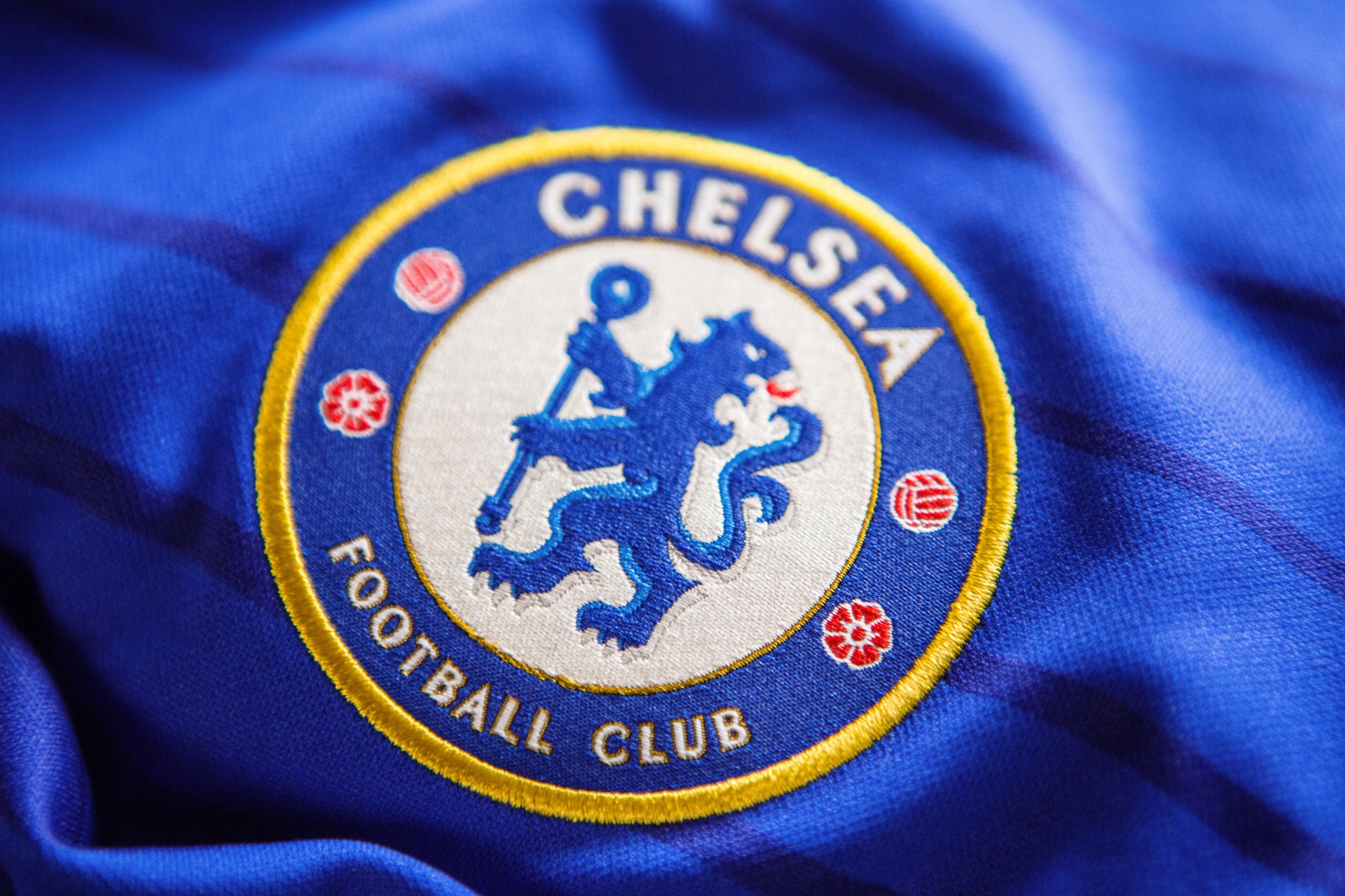 Football Soccer England Chelsea Stamford Bridge Shirt Kit Iron On Badge Patch