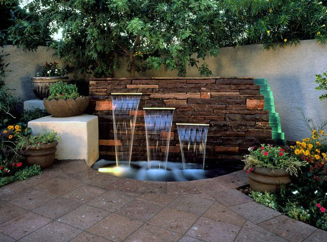 backyard water feature ideas  garden home, Backyard Ideas