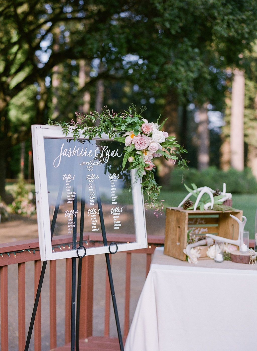 Wedding Wooden Frame Clear Board at The Mountain