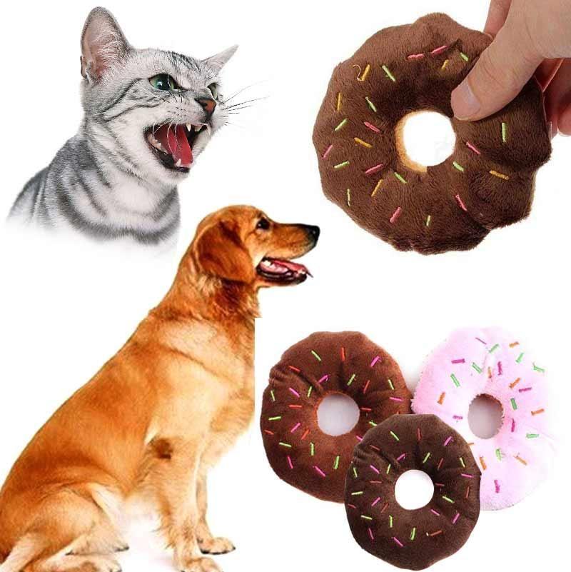 Visit To Buy Multicolor Pet Cute Doughnut Shape Pets Squeaky
