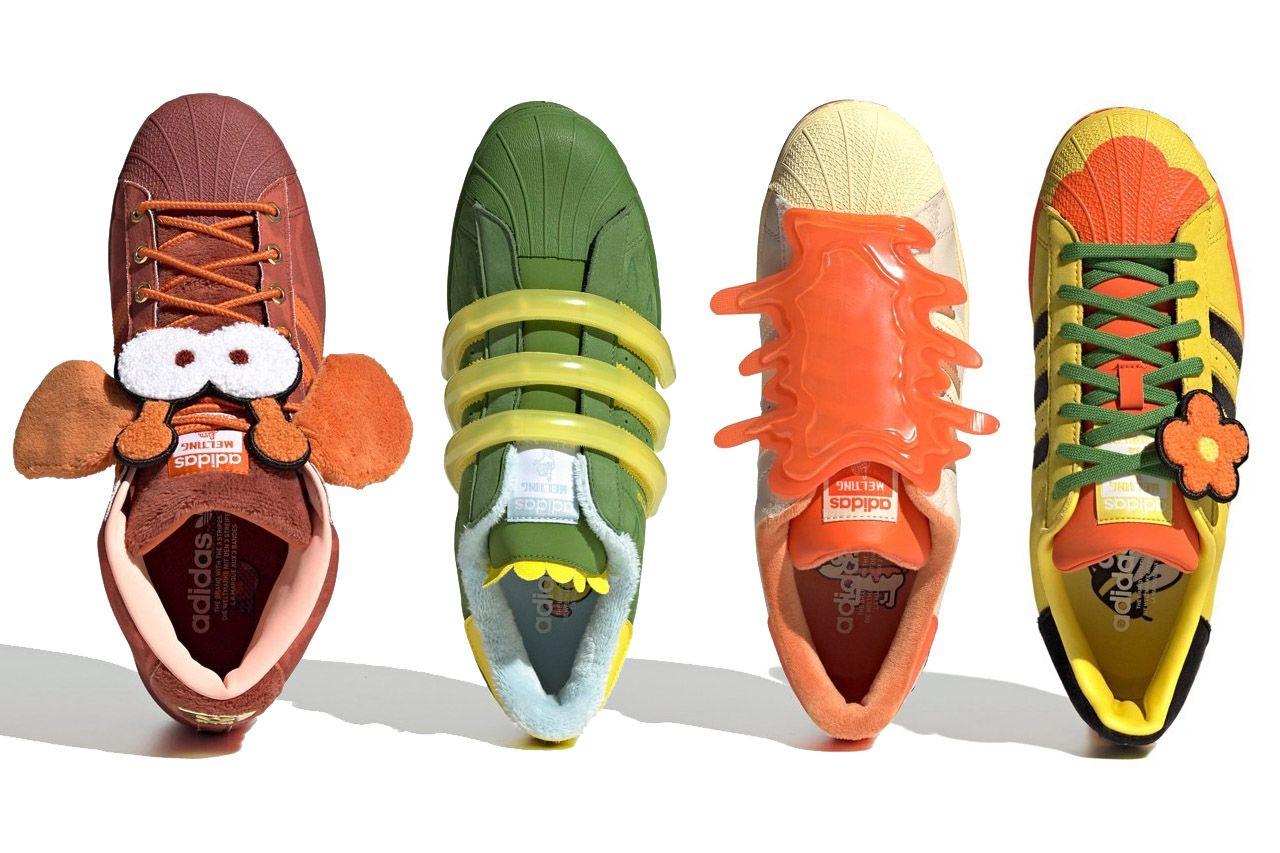 Oto Komiczne I Kreskowkowe Buty Z Kolaboracji Melting Sadness X Adidas Casual Shoes Blue Shoes Shoes