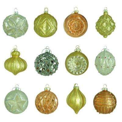 80 mm Holiday Shimmer Assortment Ornament (12-Count)