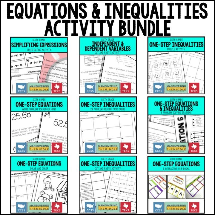 Math Review Games to Get Students Up and Moving | Equations