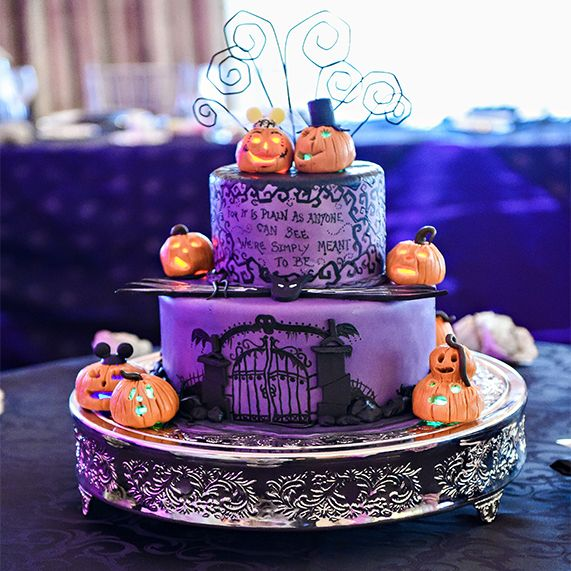 25 Unique Wedding Ideas To Get Inspire: This Halloween Wedding Cake At Walt Disney World Was