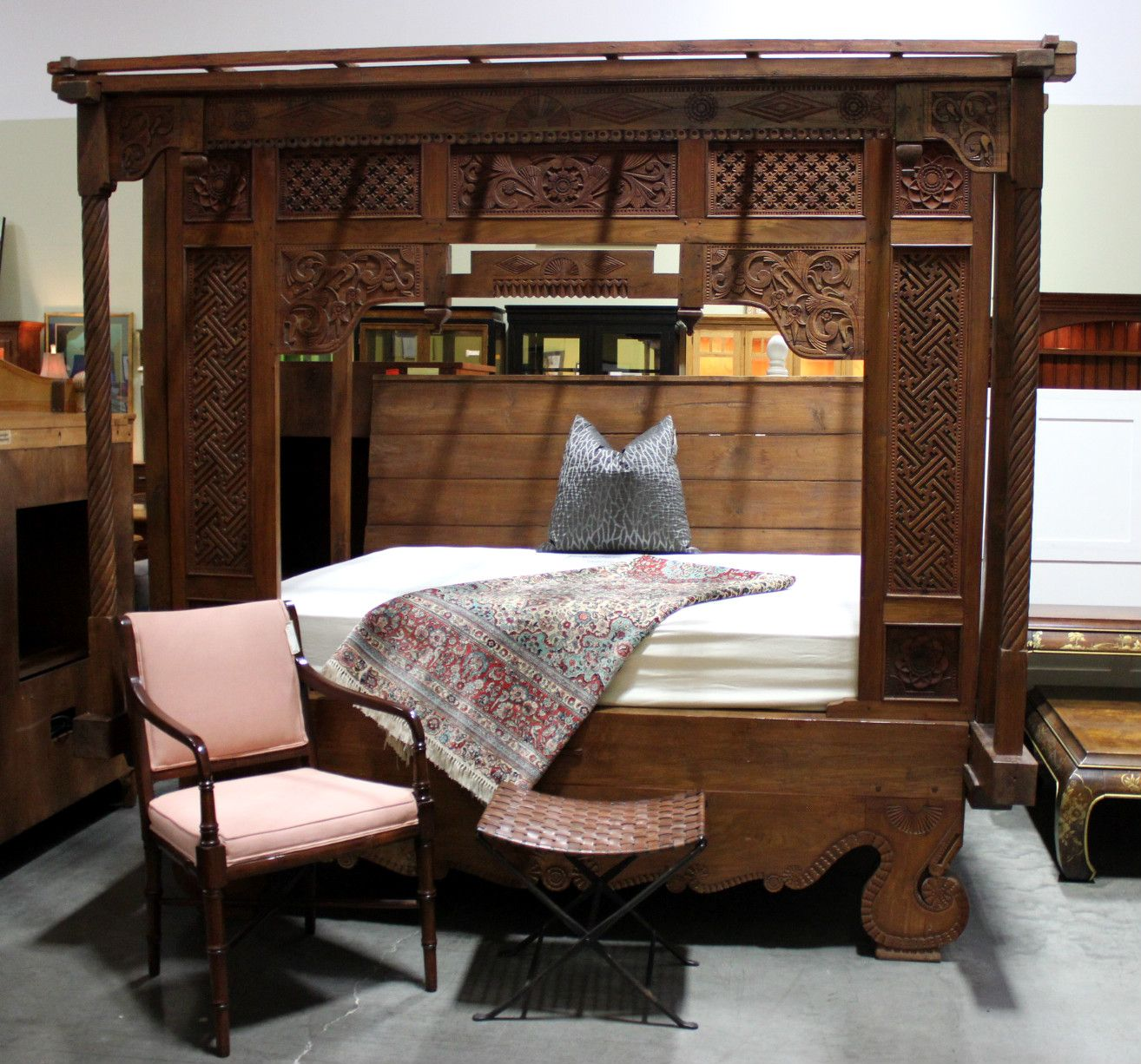 Ornately carved Canopy Side panels available & Ornately carved Canopy Side panels available | Furniture ...